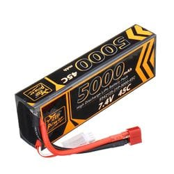 Rc Battery 5000mah 2S 45c For Rc Cars and Helicopter