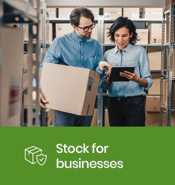 Business stock storage