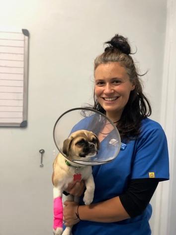 Lynn, vet nurse at North Road Veterinary Centre