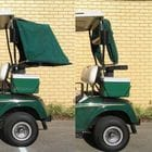 Pram Type Rain Covers for your Golf Bags, to suit E-Z-GO TXT Golf Cars. Available in Green, Tan and Black.
