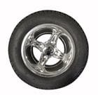 10 inch 'Mojo' 4 Spoke MAG Wheel with Tyre, Universal, Fits most Golf Cars.