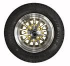 10 inch MAG Wheel Set - Gold Spoke Configuration, with Tyres. (Part No: 600598)