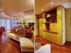 Residential interior refurbishment of a riverside Brisbane apartment designed by Tania J Coward ARCHITECT.