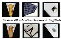 Custom Made Ties, Scarves, Cufflinks & Tie Clips