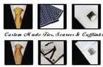 Custom Made Ties, Scarves, Cufflinks & Tie Clips