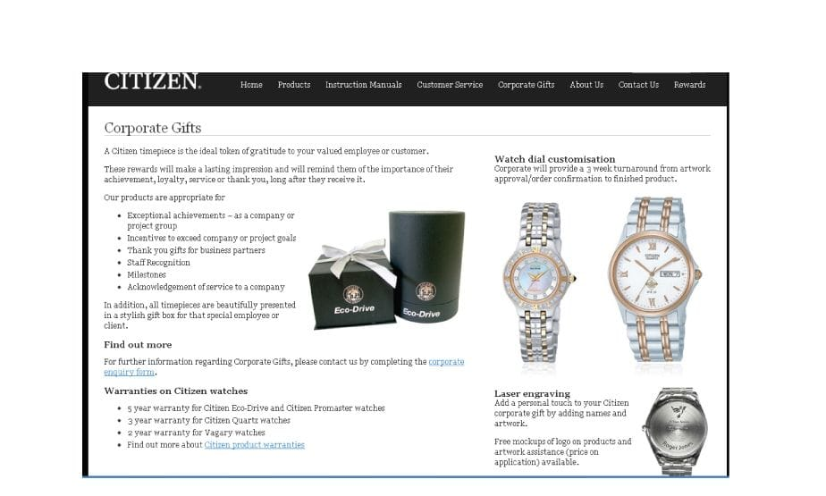 Citizen Corporate Watches