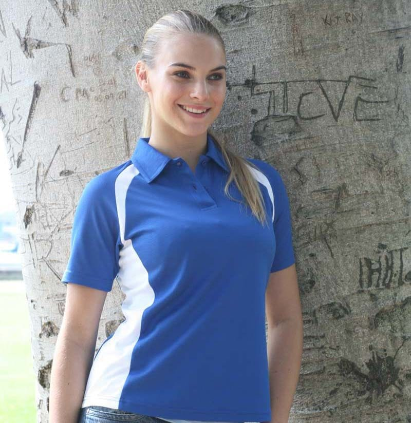 Ladies Contrast Panel Polo