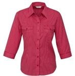 Ladies Cuban 3/4 Sleeve Shirt