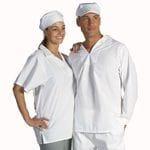 V-Neck Food Industry Jerkin S/Sleeve