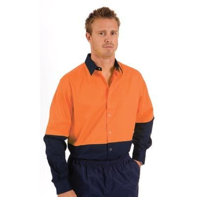 HiVis Food Industry Cool-Breeze Cotton Shirt - L/Sleeve
