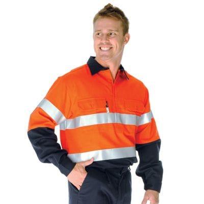 Indura Ultra Soft Flame Resistant D/N Close Front Shirt - L/S