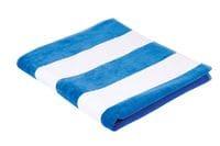 Horizontal Stripe Terry/Velour Beach Towel