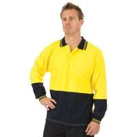 HiVis Cool Breeze Cotton Jersey Food Industry Polo - L/S