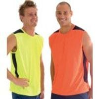 HiVis Cool-Breeze Contrast Mesh Tank Top