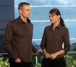Ladies 3/4 Sleeve Teflon Poplin Shirt