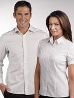 Ladies Short Sleeve Stretch Retro Stripe Shirt