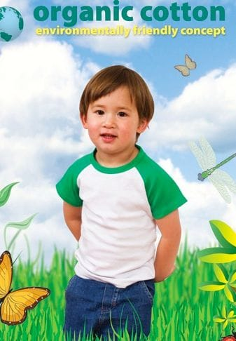 Organic Cotton - Kids Raglan T