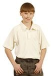 Kids TrueDry Mesh S/S Cricket Polo