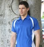 Mens Contrast Panel Polo