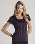 Ladies Deco Pleat Top