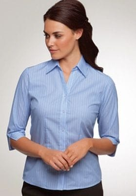 Ladies 3/4 Sleeve Shadow Stripe Shirt