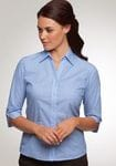 Ladies 3/4 Sleeve Shadow Stripe Shirt