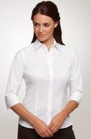 Ladies 3/4 Sleeve Stretch Shirt