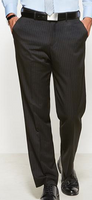 Mens Flat Front Cool Stretch Pinstripe Trouser