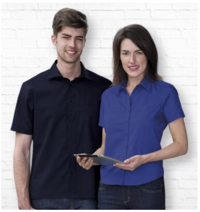 Mens Teflon Poplin S/Sleeve Shirt