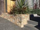 Trentham Random Stone Wall with Bluestone Steps