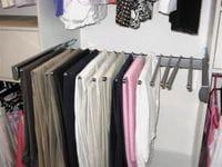 Trouser rack on soft close runner