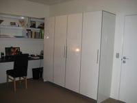 storage unit in gloss board and aluminium edge tape