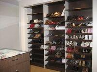 sloping shoe shelving