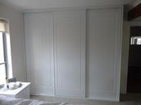 framed York profile sliding doors with 2 pack painted finish