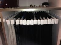 18 pair slide out trouser rack