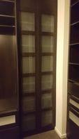 Shoji look hinged doors using pure white glass