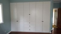 2 pack painted shaker profile hinged doors with external drawer box
