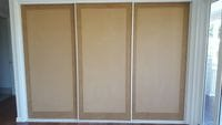 Raw shaker profile sliding doors - owner to paint themselves