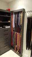 Wall hung tie storage