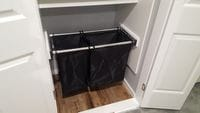 Hafele double bay slide out laundry hamper