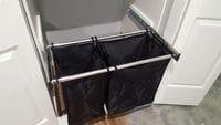 Hafele double bay slide out laundry hamper