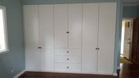 2 pack painted hinged doors with external drawer bank