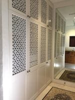 Profile 2 pack painted hinged doors with decorative screens