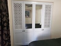 Profile 2 pack painted doors with decorative screen & mirror  inserts