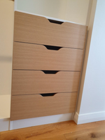 Scalloped drawer fronts in Polytec Natural  Oak matt