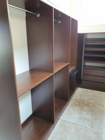 Colour Polytec Jamaican Walnut wardrobe.