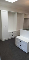 2 pack painted WIR with shaker profile drawer fronts & slide out scarf cupboard