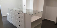 2 pack painted WIR with shaker profile drawer fronts & island