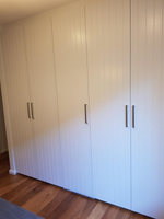 2 pack painted VJ hinged doors with support posts