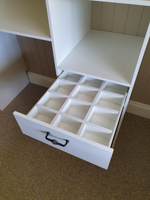 White tie/belt drawer dividers